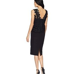 Bardot peplum lace dress